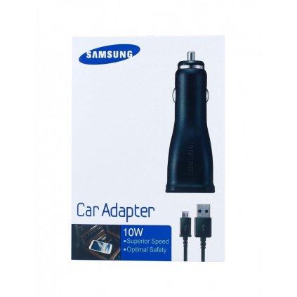 Originálna nabíjačka do auta Samsung ECA-U21CBE + dátový kábel micro USB 2A čierna