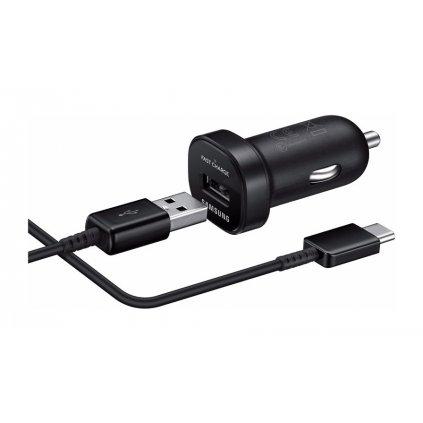 Originálna rýchlonabíjačka do auta Samsung EP-LN930CBE + EP-DG950CBE USB-C (Type-C) čierna