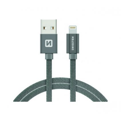 Dátový kábel Swissten Lightning pre iPhone 2m sivý