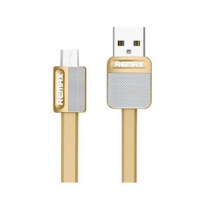 Dátový kábel Remax Metal microUSB 1m zlatý