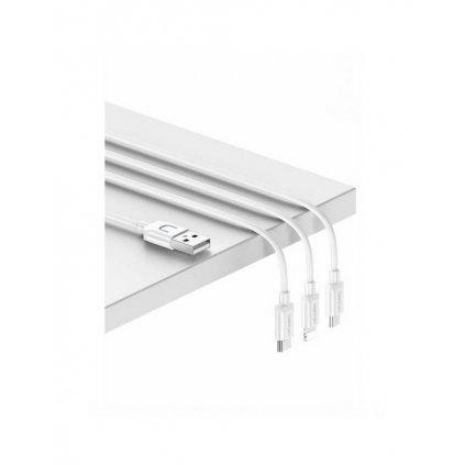 Dátový kábel USAMS SJ324 3v1 biely