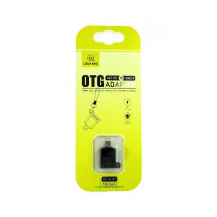 Adaptér OTG USAMS SJ187 microUSB na USB 2.0 čierny