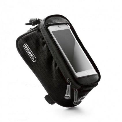 Puzdro Roswheel mobilný telefón na bicykel čierne 4,8 ''