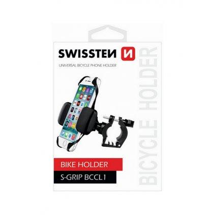 Držiak na mobil na bicykel Swissten S-Grip BCCL1 čierny
