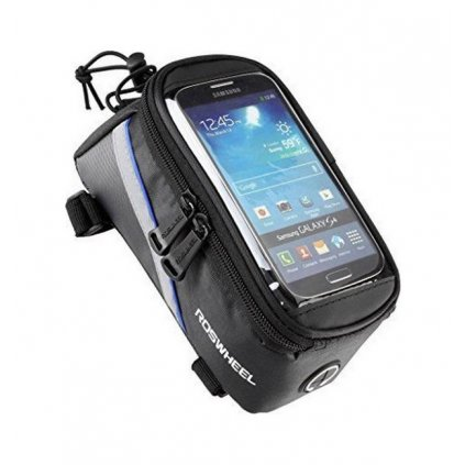 Puzdro Roswheel pre mobilný telefón na bicykel čierno-modré 4,8''