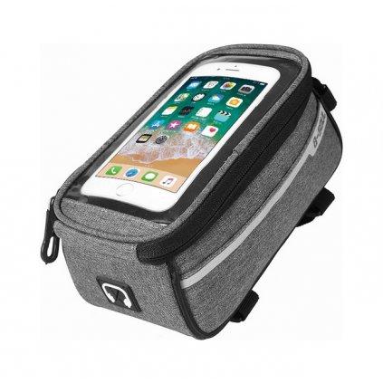 Puzdro B-SOUL mobilný telefón na bicykel šedé 5,5''