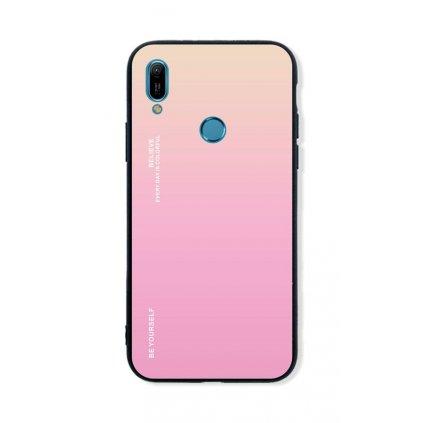 Zadný pevný kryt LUXURY na Huawei Y6 2019 dúhový marhuľový