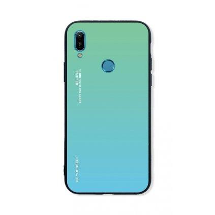 Zadný pevný kryt LUXURY na Huawei Y6 2019 dúhový zelený