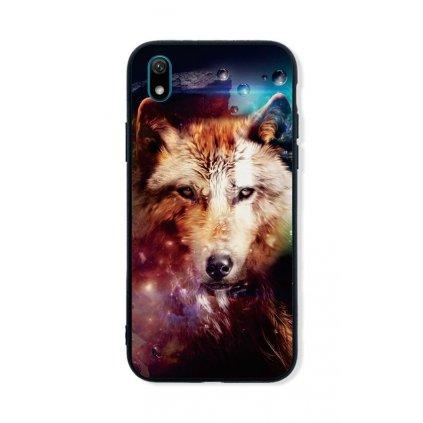 Zadný pevný kryt LUXURY na Huawei Y5 2019 Wolf