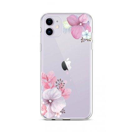 Zadný silikónový kryt na iPhone 11 Violet Blossom