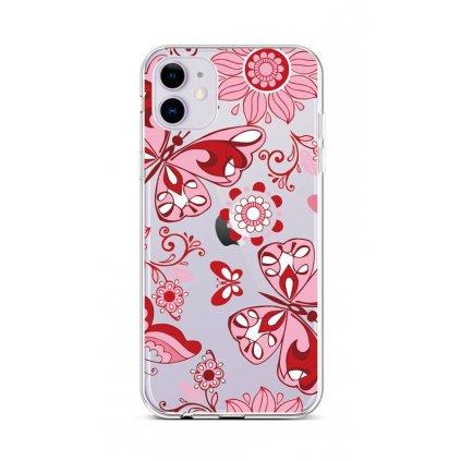 Zadný silikónový kryt na iPhone 11 Pink Butterfly