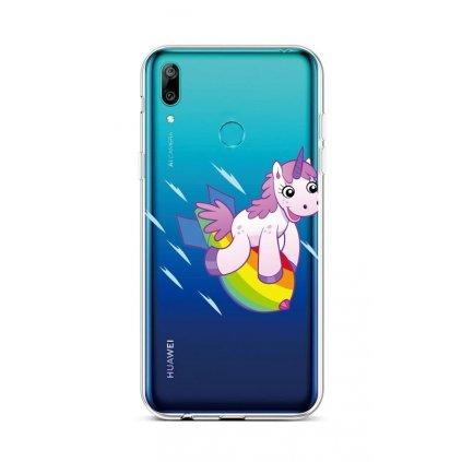 Zadný silikónový kryt na Huawei Y6 2019 Flying Unicorn