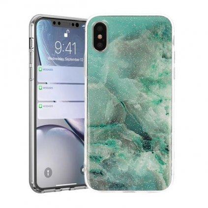 Zadný pevný kryt na Huawei Y5 2019 Marble Stone Blue