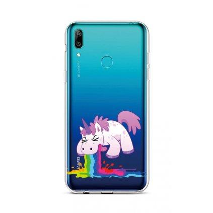 Zadný silikónový kryt na Huawei Y6 2019 Rainbow Splash