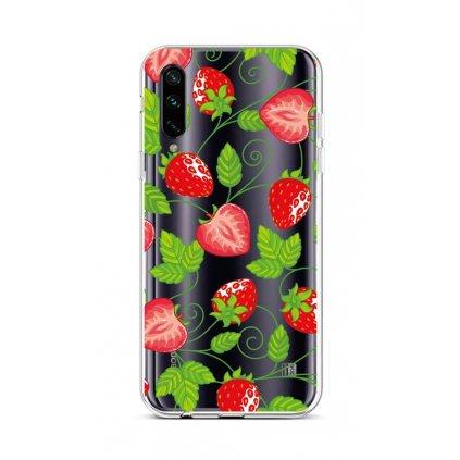 Zadný silikónový kryt na Xiaomi Mi A3 Strawberries