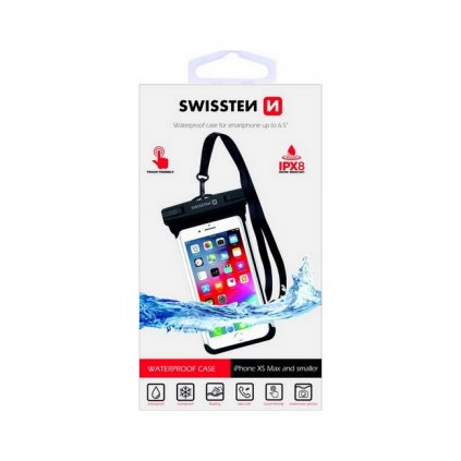 "Vodotesné puzdro na mobil Swissten IPX8 6.0""  čierne"