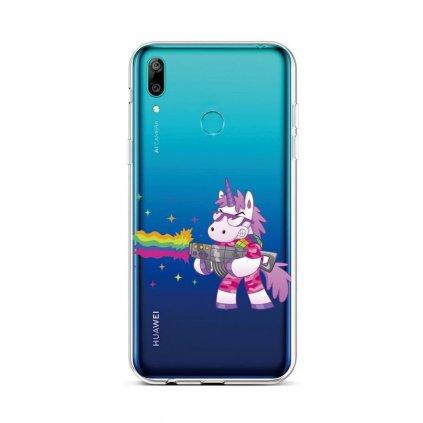 Zadný silikónový kryt na Huawei Y6 2019 Rainbow Gun