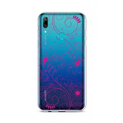 Zadný silikónový kryt na Huawei Y6 2019 Pink Ornament