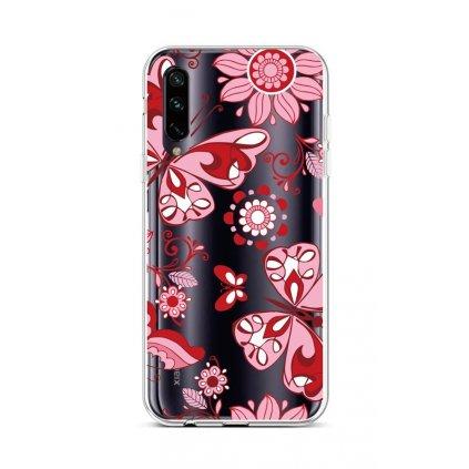 Zadný silikónový kryt na Xiaomi Mi A3 Pink Butterfly