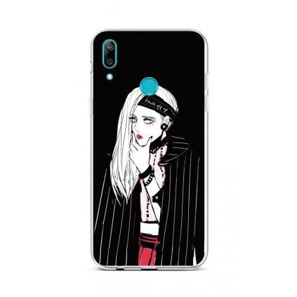 Zadný silikónový kryt na Huawei Y6 2019 Dark Girl