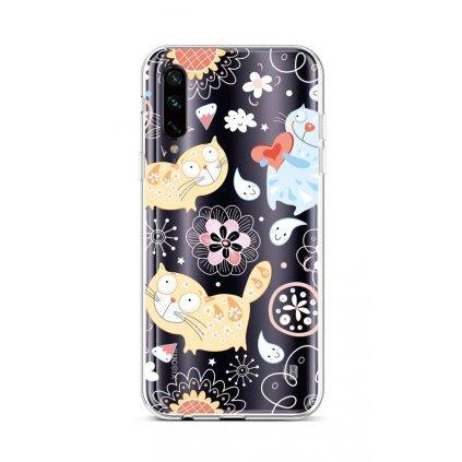 Zadný silikónový kryt na Xiaomi Mi A3 Happy Cats