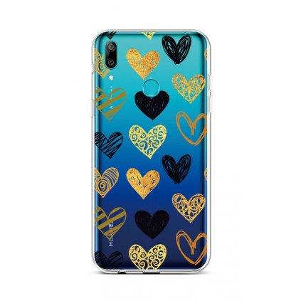 Zadný silikónový kryt na Huawei Y6 2019 Srdce