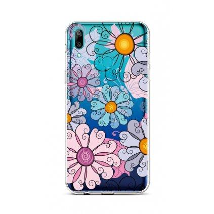 Zadný silikónový kryt na Huawei Y6 2019 Colorful Daisy