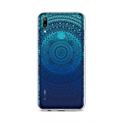 Zadný silikónový kryt na Huawei Y6 2019 Navy Mandala