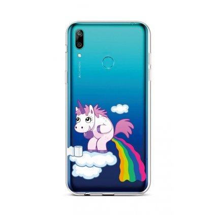 Zadný silikónový kryt na Huawei Y6 2019 Rainbow Disaster