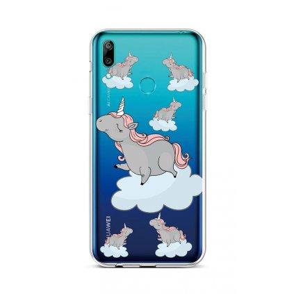 Zadný silikónový kryt na Huawei Y6 2019 Grey Unicorns