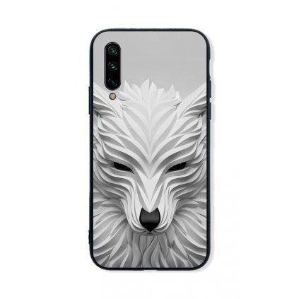 Zadný pevný kryt LUXURY na Xiaomi Mi A3 Biely vlk
