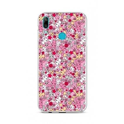 Zadný silikónový kryt na Huawei Y6 2019 Pink Bunnies