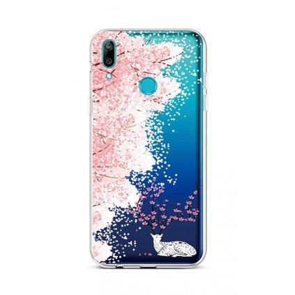 Zadný silikónový kryt na Huawei Y6 2019 Blooming Deer
