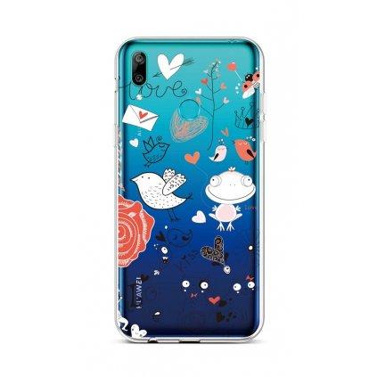 Zadný silikónový kryt na Huawei Y6 2019 Funny