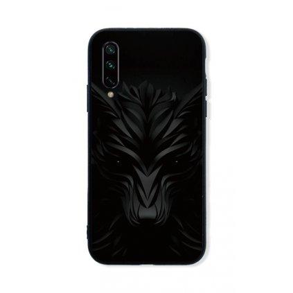 Zadný pevný kryt LUXURY na Xiaomi Mi A3 Čierny vlk