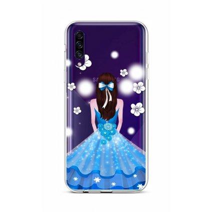 Zadný silikónový kryt na Samsung A30s Blue Princess