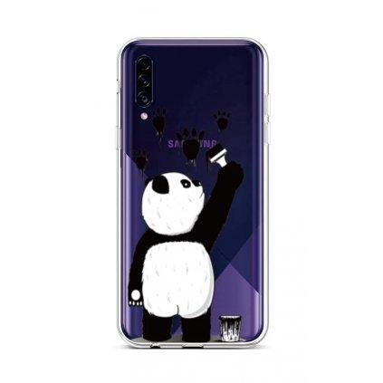 Zadný silikónový kryt na Samsung A30s Rebel Panda