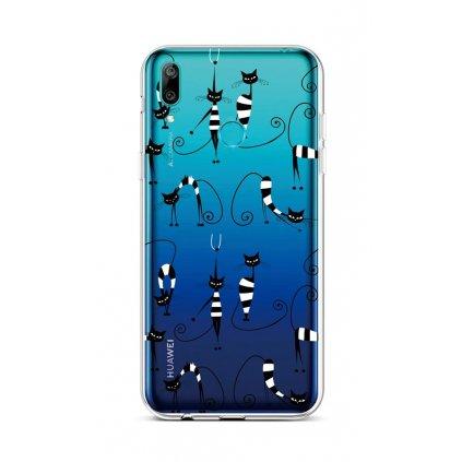 Zadný silikónový kryt na Huawei Y6 2019 Cats 1