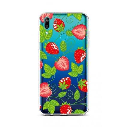 Zadný silikónový kryt na Huawei Y6 2019 Strawberries