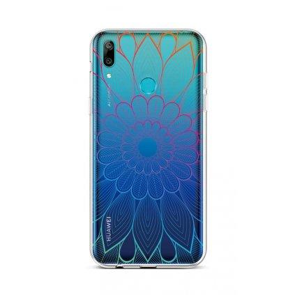 Zadný silikónový kryt na Huawei Y6 2019 Rainbow Mandala