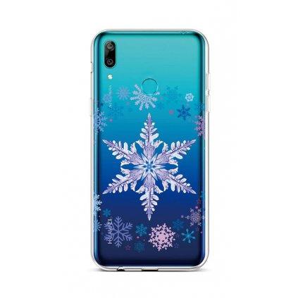 Zadný silikónový kryt na Huawei Y6 2019 Snowflake
