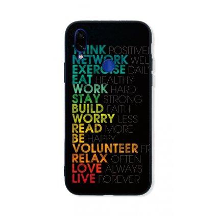 Zadný pevný kryt LUXURY na Xiaomi Redmi 7 Words