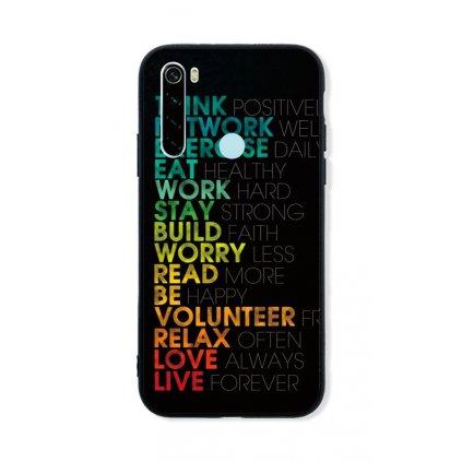 Zadný pevný kryt LUXURY na Xiaomi Redmi Note 8 Words