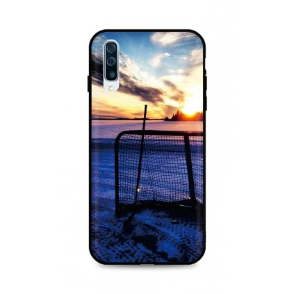 Zadný silikónový kryt DARK na Samsung A50 Hockey Sunset