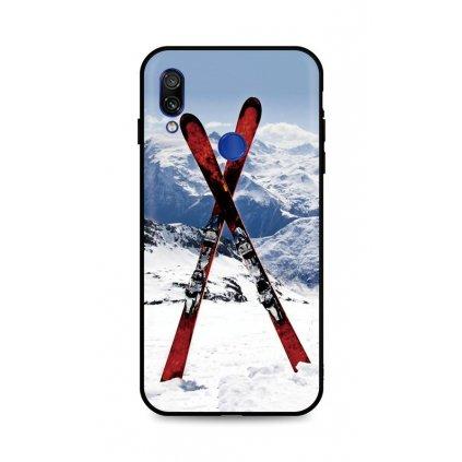 Zadný silikónový kryt DARK na Xiaomi Redmi Note 7 Skiing