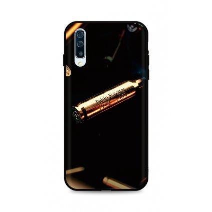 Zadný silikónový kryt DARK na Samsung A50 Pablo Escobar Bullet