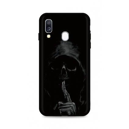 Zadný silikónový kryt DARK na Samsung A40 Dark Grim Reaper