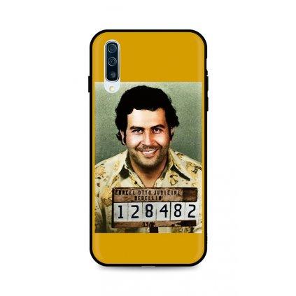Zadný silikónový kryt DARK na Samsung A50 Pablo Escobar