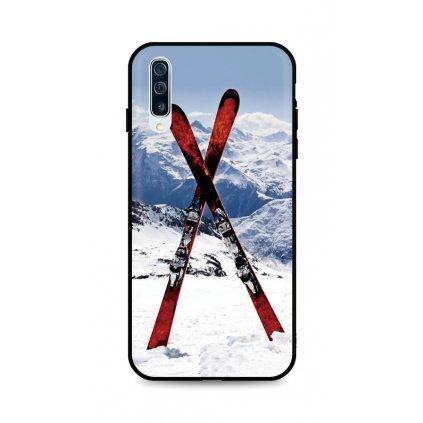 Zadný silikónový kryt DARK na Samsung A50 Skiing