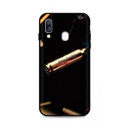 Zadný silikónový kryt DARK na Samsung A40 Pablo Escobar Bullet
